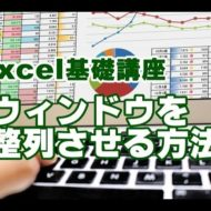 Excel ウィンドウ 整列
