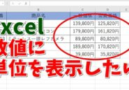Excel エクセル 書式設定 数字