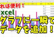 Excel エクセル グラフ データ 追加