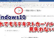 Windows10 ウィンドウズ10 テキストカーソルインジケーター Windowsの設定