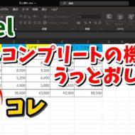 Excel エクセル オートコンプリート 無効