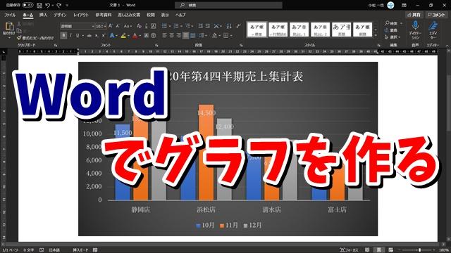 Word ワード グラフ 作り方