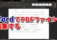 Word ワード PDFファイル 編集